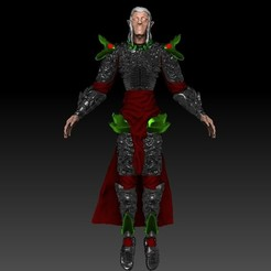 Front.jpg Download OBJ file Archmage Elf DnD miniature • 3D printing design, VnBArt
