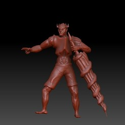 LanceKnight1.jpg Download OBJ file Lance / Knight / Fighter • 3D printer template, VnBArt