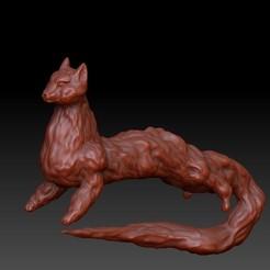 Catfox.jpg Download OBJ file Catfox • 3D printable template, VnBArt