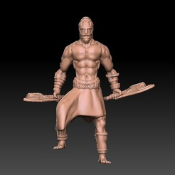 Barbarian.jpg Download OBJ file Barbarian Human • 3D print object, VnBArt