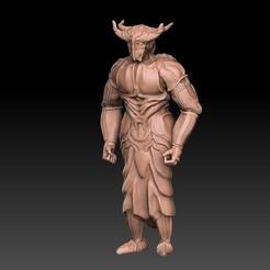 34.jpg Télécharger fichier OBJ Chevalier Démon / Combattant Dnd • Objet à imprimer en 3D, VnBArt