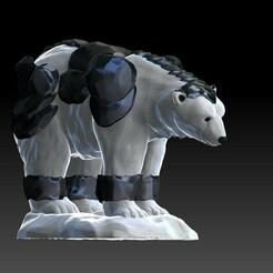 34left.jpg Télécharger fichier OBJ Tyran d'hiver - Ours polaire blindé • Objet imprimable en 3D, VnBArt