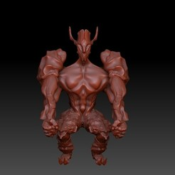 Front.jpg Download OBJ file Forest Guardian • 3D print template, VnBArt
