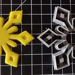 SnowFlake 2.jpg Download STL file Snow Flake Cookie Cutter Set • 3D printing design, cesarlua92