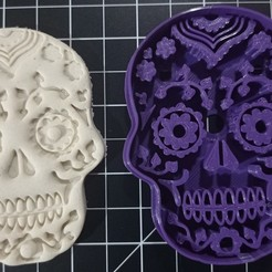 IMG_20201012_185155.jpg Download STL file Sugar Skull Cookie Cutter • 3D printer design, cesarlua92