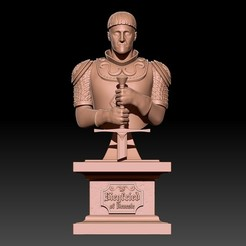 1.jpg Download STL file Siegfried of Denesle bust • 3D printable template, ssharkus