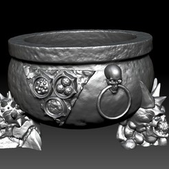 Download 3D printing files Plague deamon cauldron, ssharkus