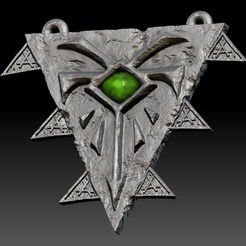 8.jpg Download STL file Grey Seer Skaven amulet • 3D printer design, ssharkus
