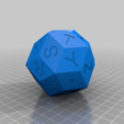 Download free 3D printing templates Alphabetized (DK) Triacontahedron, Irondad