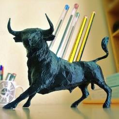 Descargar STL Porta lápices toro/ Bull pen holder , Pastor3dPrint