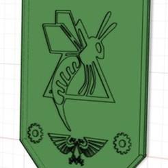 Télécharger fichier STL gratuit Bannière Titan 40k Legio Ignatum Guêpes de feu • Plan pour impression 3D, Talizvar