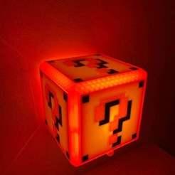 Télécharger fichier STL gratuit Lampe Mario Bros avec détecteur de mouvement • Modèle pour imprimante 3D, Rgc-3D