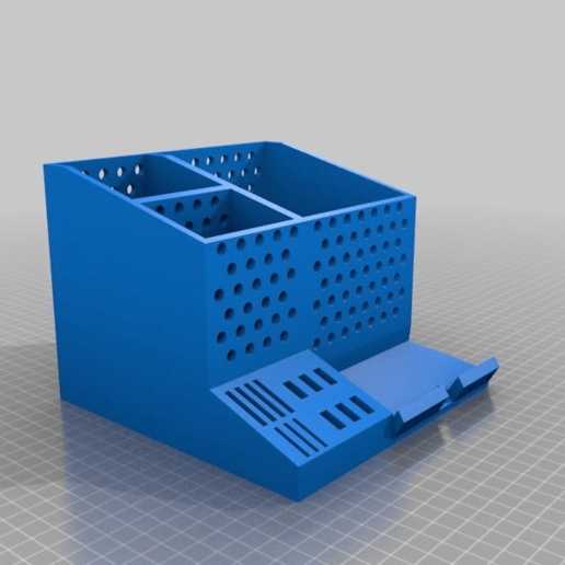 Download free STL file Desk Organizer With USB, SD, & Mini SD slots • 3D printable design, BigRed3234