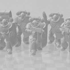 Heavy_Intercessors_Full_squad.png Download free 3MF file Obscure Crusaders Heavily Intercessive Squad • 3D printer template, agbamo