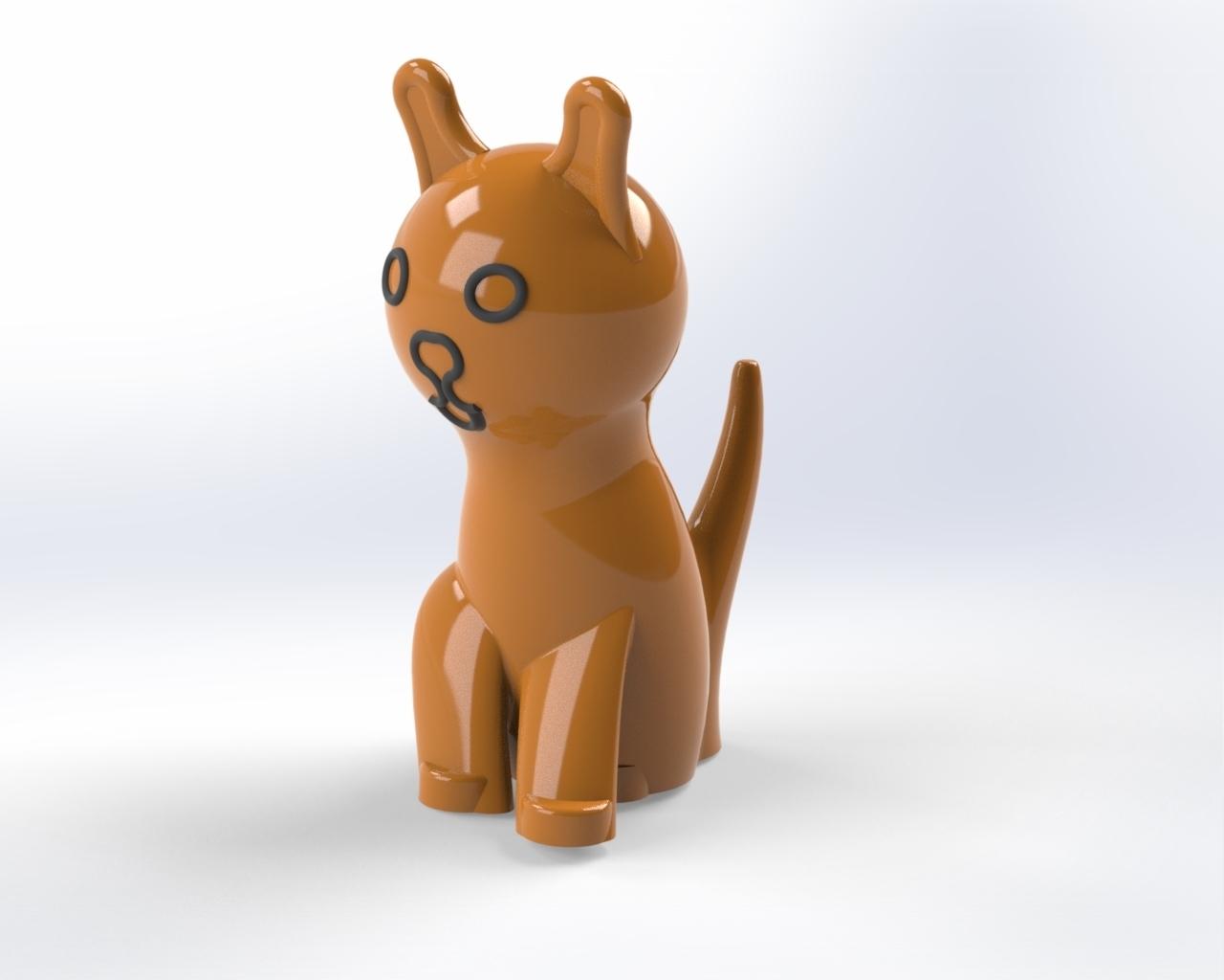 Cat_v2_rendering.jpg Télécharger fichier STL Chat • Modèle pour impression 3D, laurens1952
