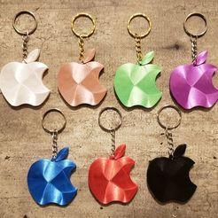 119979801_901473946928707_2986458872556664905_n.jpg Download STL file Apple Keychain • 3D printing model, jgarcia5370