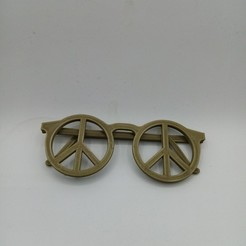 Download 3D printing models peace glasses, 3Dhub