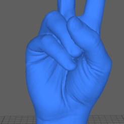 peacescreen.PNG Download STL file 3d scan hand peace • Design to 3D print, Nilssen3DService