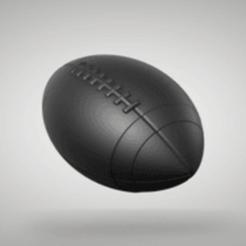 Download free 3D printing models american fotball, Nilssen3DService