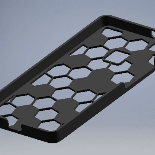 Download free 3D printer files Huawei P9 Lite honeycomb case, EnginEli