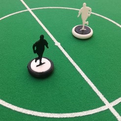 Download free 3D printing templates Subbuteo team players, EnginEli