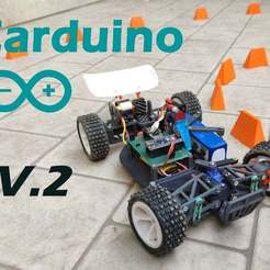Cover_Image.jpg Download free STL file Carduino V2 (The Arduino based RC car) • 3D printer template, EnginEli