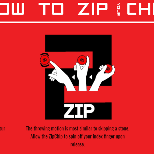 zipchip.png Télécharger fichier STL gratuit Mini disque volant zippable • Modèle à imprimer en 3D, EnginEli