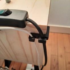 20201106_104925.jpg Télécharger fichier STL gratuit Guide câble table de nuit • Plan imprimable en 3D, AIRELLES