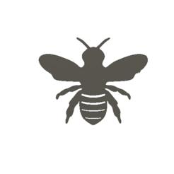 abeille noire.png Télécharger fichier STL gratuit cadre mural abeille • Objet imprimable en 3D, AIRELLES