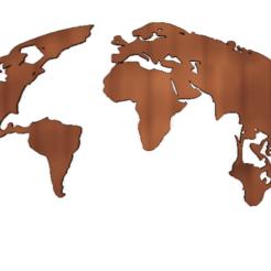 monde.png Télécharger fichier STL Cadre mural Monde • Modèle à imprimer en 3D, AIRELLES