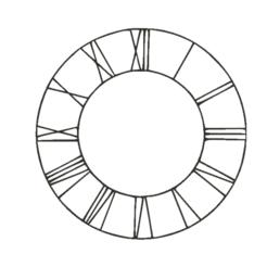 Download free 3D printer templates Roman Clock, AIRELLES