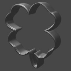 Download STL 3D printing file - Shamrock Clover Cookie Cutter, kay__1