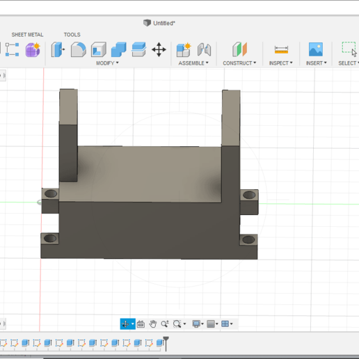 Download 3D printer designs servo bracket, oniix3d