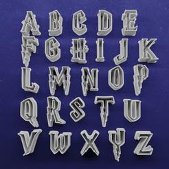 push letras de harry potter 1.png Download STL file Harry Potter Cookie Cutter • 3D print design, Cortantesparagalletitas