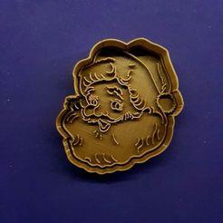 121568109_951392065358954_3366365879803388814_n.jpg Download STL file Santa Claus Christmas Cookie Cutter Vintage Cookie Cutter • 3D printing object, Cortantesparagalletitas