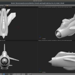 Imprimir en 3D gratis Avión de juguete - Relámpago eléctrico inglés, Bandido