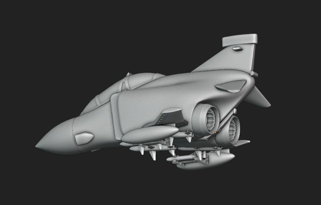 Screenshot from 2020-10-17 21-31-31.png Download STL file Toy plane - McDonnell Douglas F-4M (RAF FGR.2) • 3D print design, Bandido