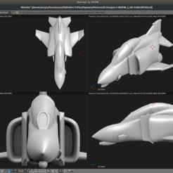 Download 3D printer designs Toy plane - McDonnell Douglas F-4B, Bandido