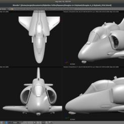 Download STL Toy plane - Douglas A-4M Skyhawk, Bandido