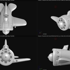 Descargar diseños 3D gratis Avión de juguete - Polikarpov I-16 Ishak, Bandido