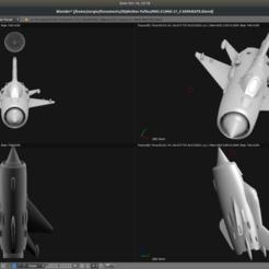 Impresiones 3D gratis Avión de juguete - MiG-21 Lecho de pescado, Bandido