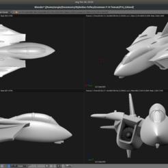 Descargar STL Avión de juguete - Grumman F-14A Tomcat, Bandido