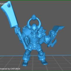 screenShot_HeroQuest_Chaos_Warrior_GW_General.png Télécharger fichier STL Guerrier du Chaos Général • Plan pour impression 3D, celtic_hustla