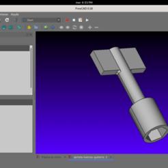 Captura de pantalla de 2020-10-27 18-33-50.png Download OBJ file Ratchet with socket for guitar jack nuts. • 3D printing template, arivasc33
