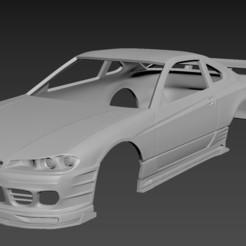 1.jpg Télécharger fichier STL Nissan Silvia S15 2001 : la carrosserie à l'honneur • Objet imprimable en 3D, Andrey_Bezrodny