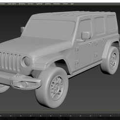 1.jpg Download STL file Jeep Wrangler Unlimited 2019 • 3D printer model, Andrey_Bezrodny