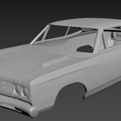 1.jpg Télécharger fichier STL Plymouth Road Runner 1969 Corps à imprimer • Plan imprimable en 3D, Andrey_Bezrodny