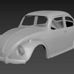 1.jpg Download STL file Volkswagen Beetle 1967 Body for print  • Object to 3D print, Andrey_Bezrodny