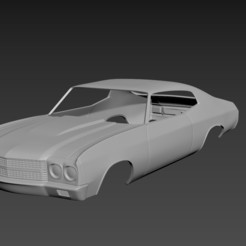 1.jpg Download STL file Chevrolet Chevelle SS 1970 Body for print • 3D printing object, Andrey_Bezrodny