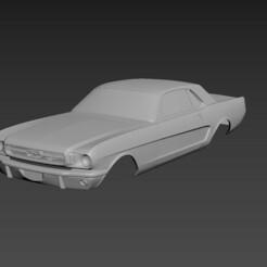 1.jpg Download STL file Ford Mustang Coupe 1965 Body For Print • 3D printer model, Andrey_Bezrodny